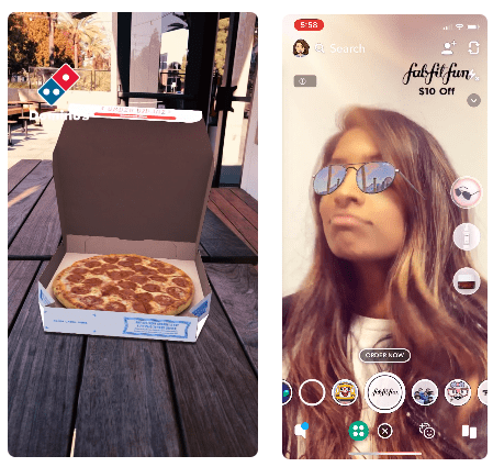 Snapchat AR ads examples