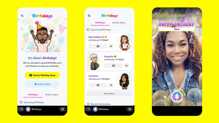 Snapchat Birthdays Mini