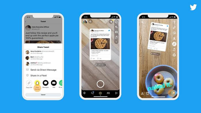 Comment partager un tweet sur SnapChat