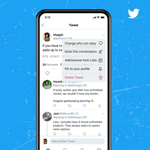 Twitter reply controls update