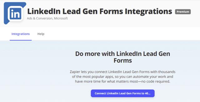 LinkedIn Zapier integration