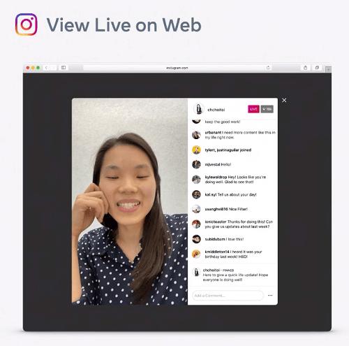 Instagram Live desktop