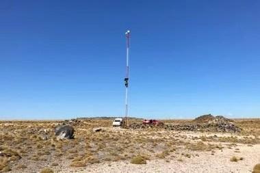 La instalación de la antena en El Cuy, Río Negro, llevó el acceso a Internet en febrero de 2019 a esa población de 540 habitantes
