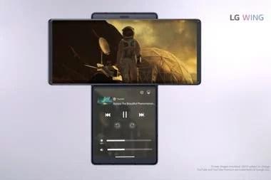 El LG Wing permite ver una aplicación diferente en cada pantalla
