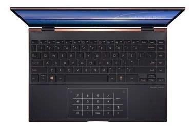 El touchpad de la Zenbook Flip S también puede transformarse en teclado numérico