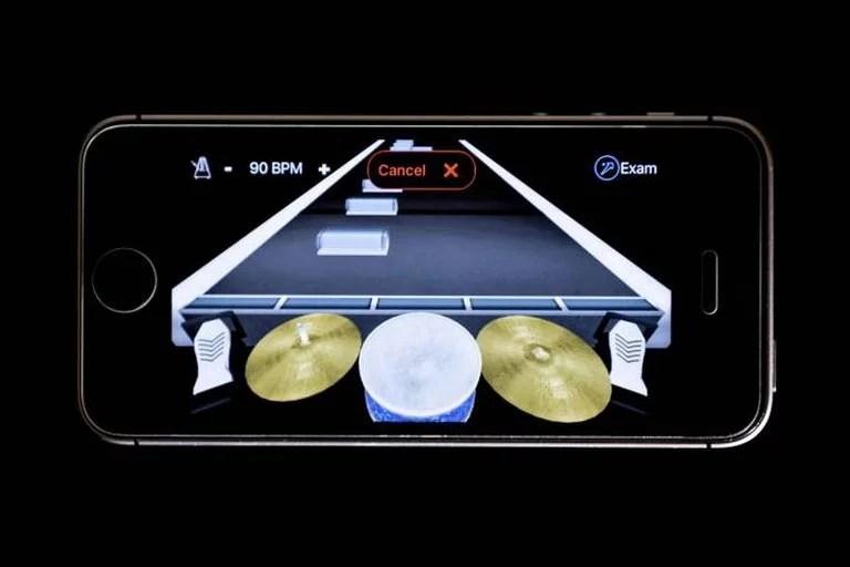 Una vista a la aplicación móvil de Senstroke en modo de aprendizaje
