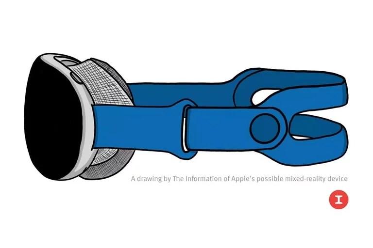 Una ilustración elaborada por el sitio The Information muestra el posible aspecto que tendrá el futuro dispositivo de Apple