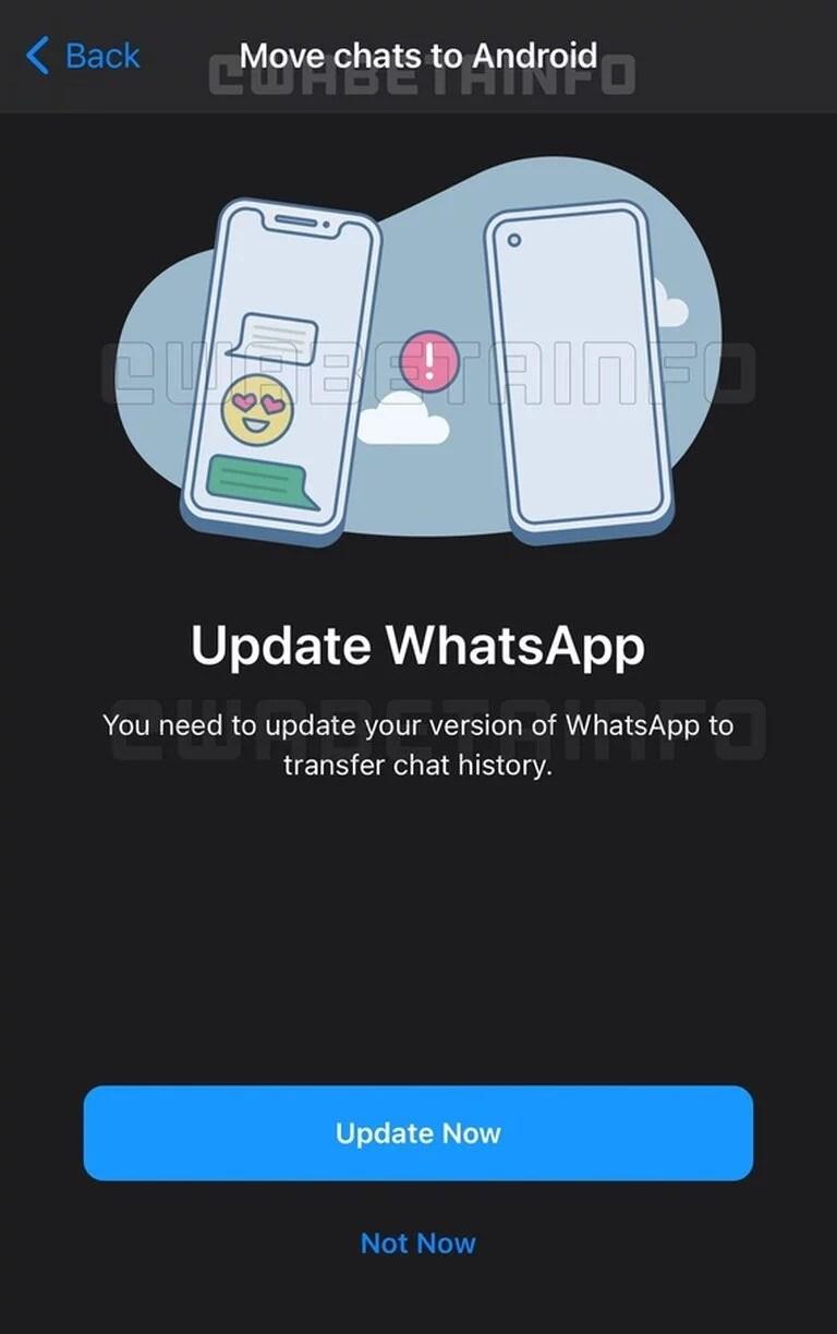Whatsapp permitirá la migración del historial de chat entre iOS y Android, algo que no es posible hasta ahora sin apelar a aplicaciones de terceros