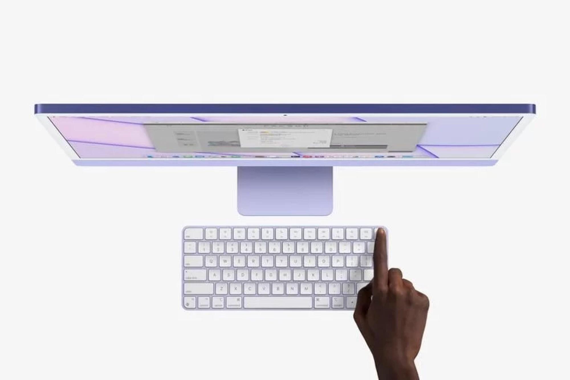Junto a la nueva iMac, Apple lanza el teclado Magic Keyboard con Touch ID