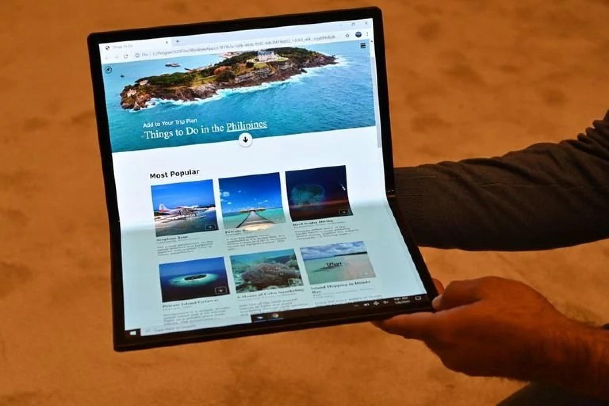 Horseshoe Bend, el prototipo de Intel de una pantalla de 17 pulgadas que se pliega como si fuera una notebook