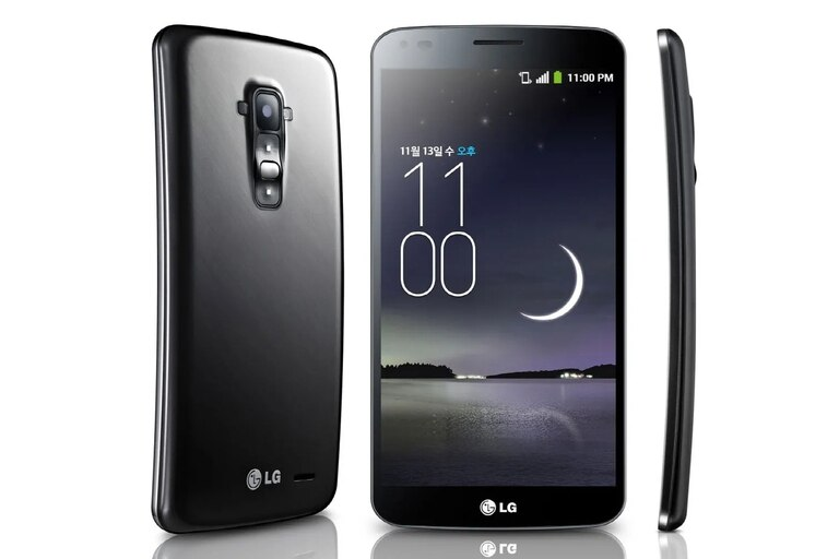 El LG G Flex era un teléfono curvo y flexible, también conocido por tener una tapa de batería que en teoría se autocuraba de los rayones