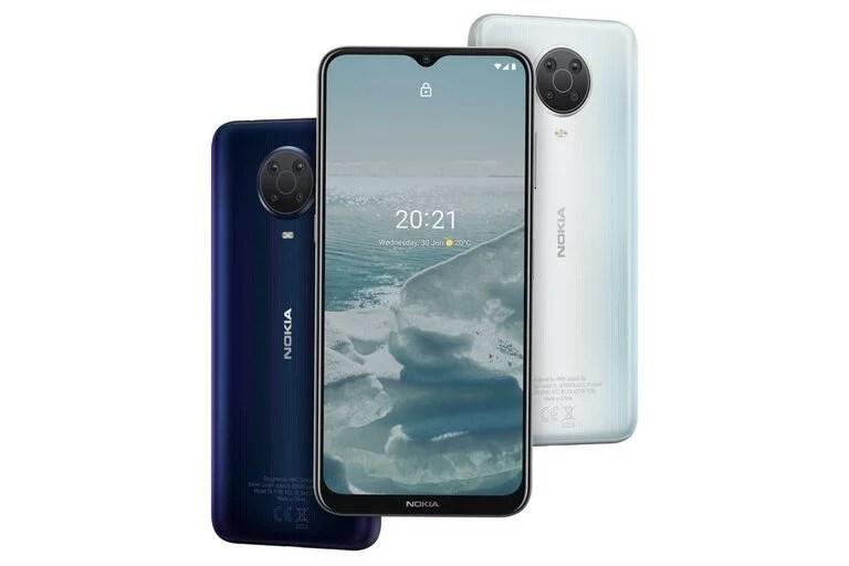 Un Nokia G20; la compañía dice que tendrá 3 días de autonomía