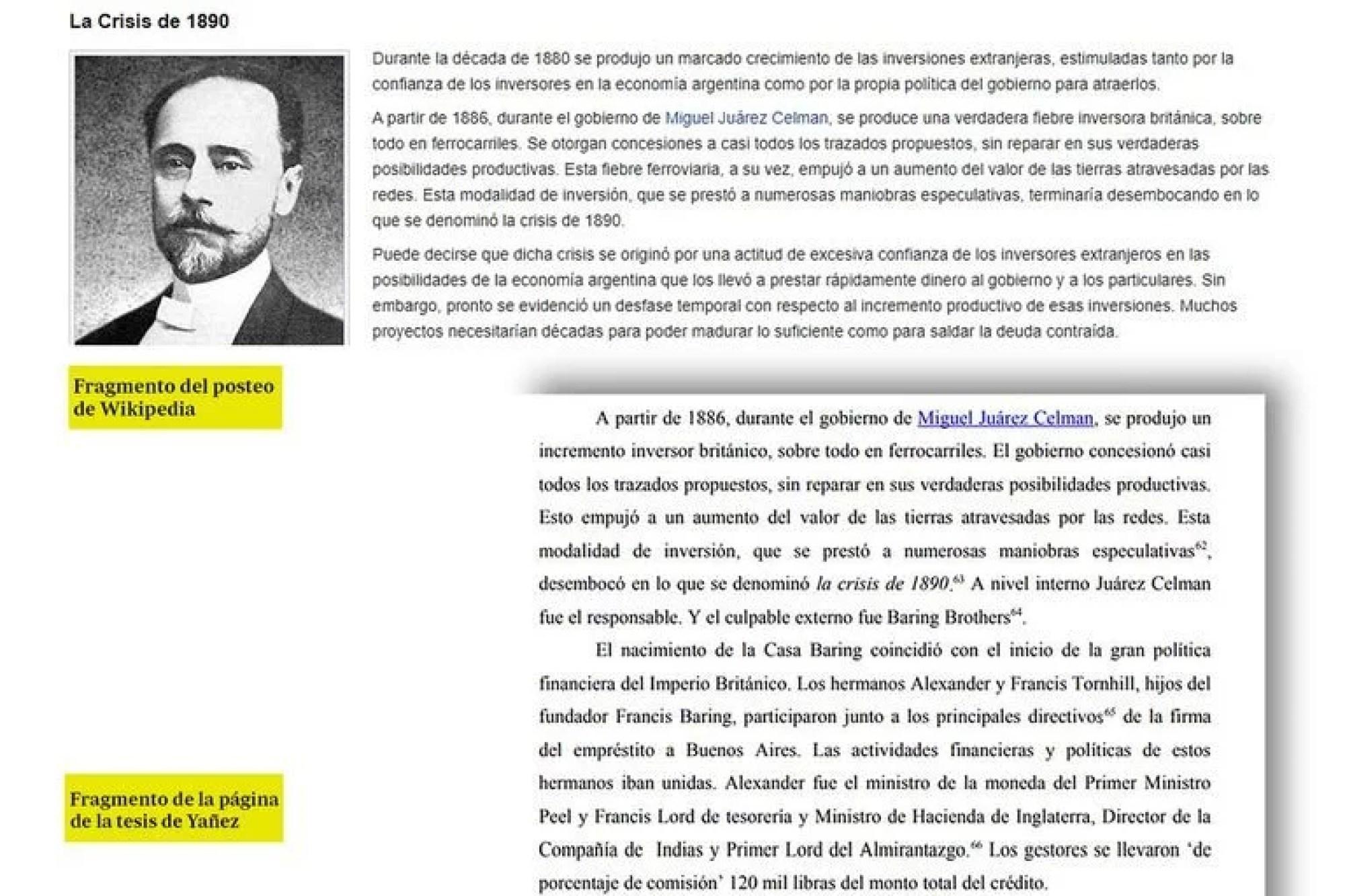 Los fragmentos de Wikipedia incluidos en la tesis.