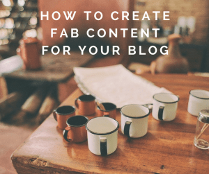 Create Fab Content for your Blog