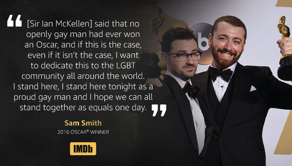 Sam Smith dedicates Oscar to LGBT community