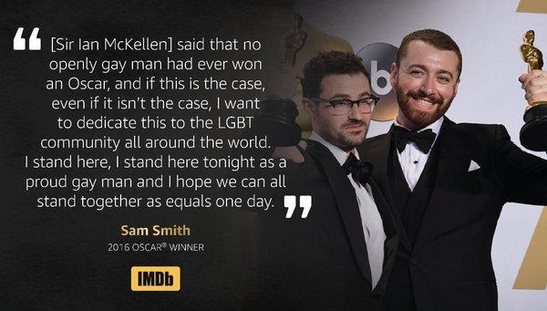 Sam Smith dedicates Oscar to LGBT community