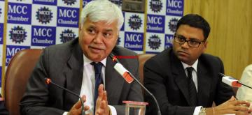 Kolkata: TRAI Chairman RS Sharma addresses during a MCCI Chamber programme on Telecom Revolution in Kolkata, on Dec 3, 2015. (Photo: IANS)