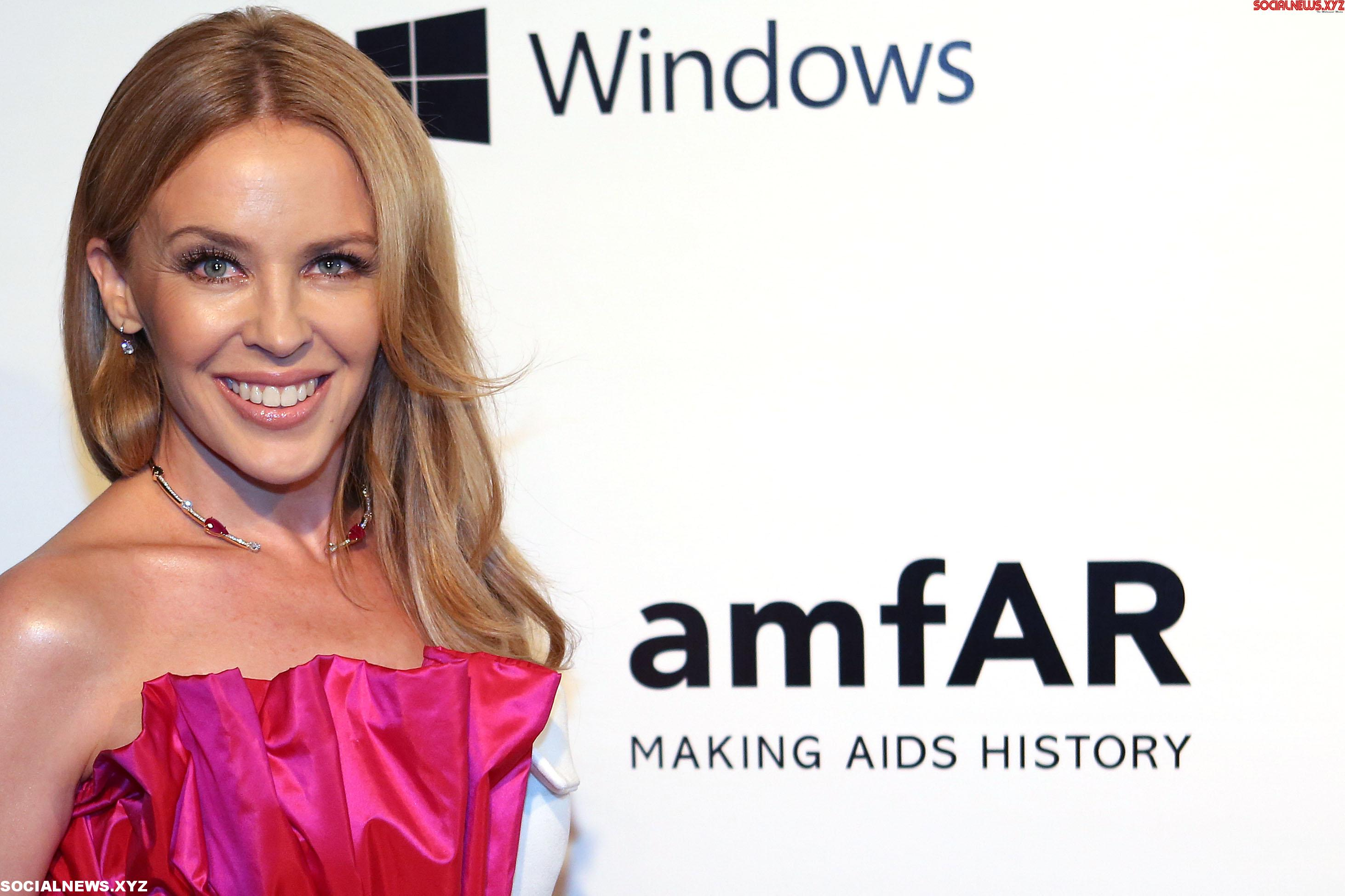 Kylie Minogue's lunch date with mystery man