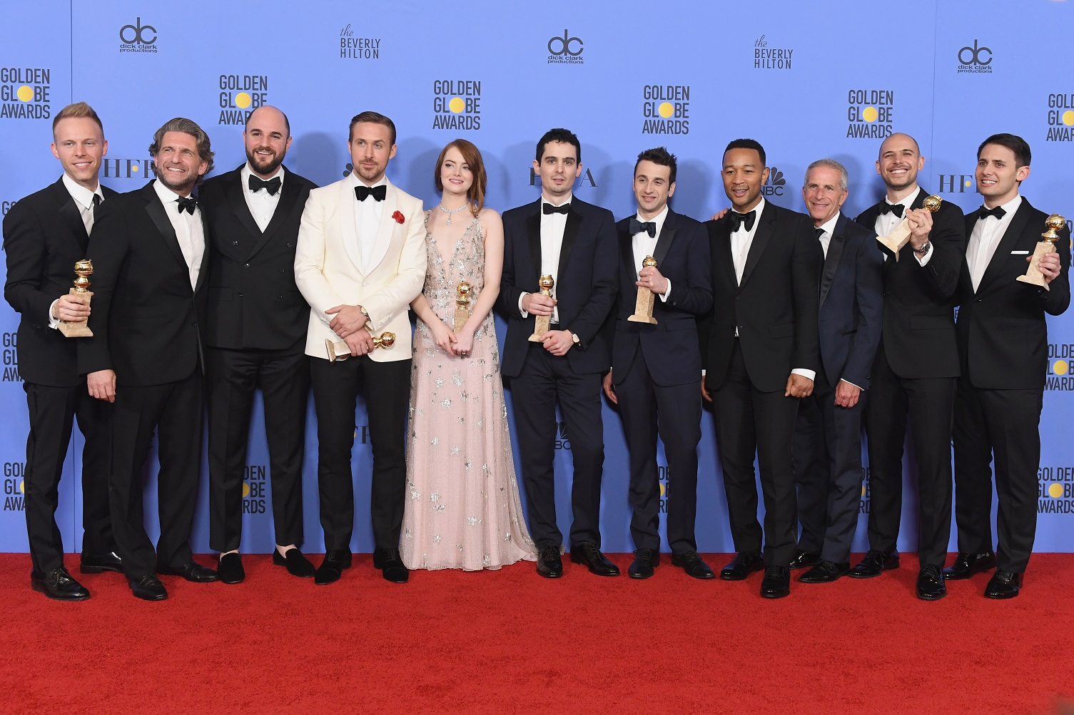 "Jaeger-LeCoultre congratulates ""La La Land"" Director Damien Chazelle for winning 7 Golden Globes"