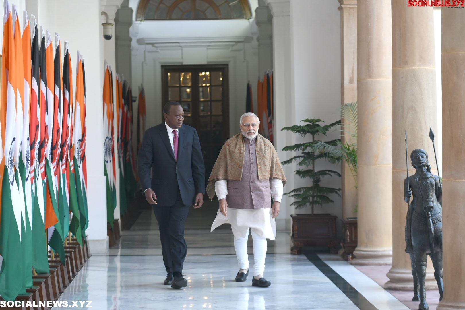 New Delhi: Modi with Kenyan President