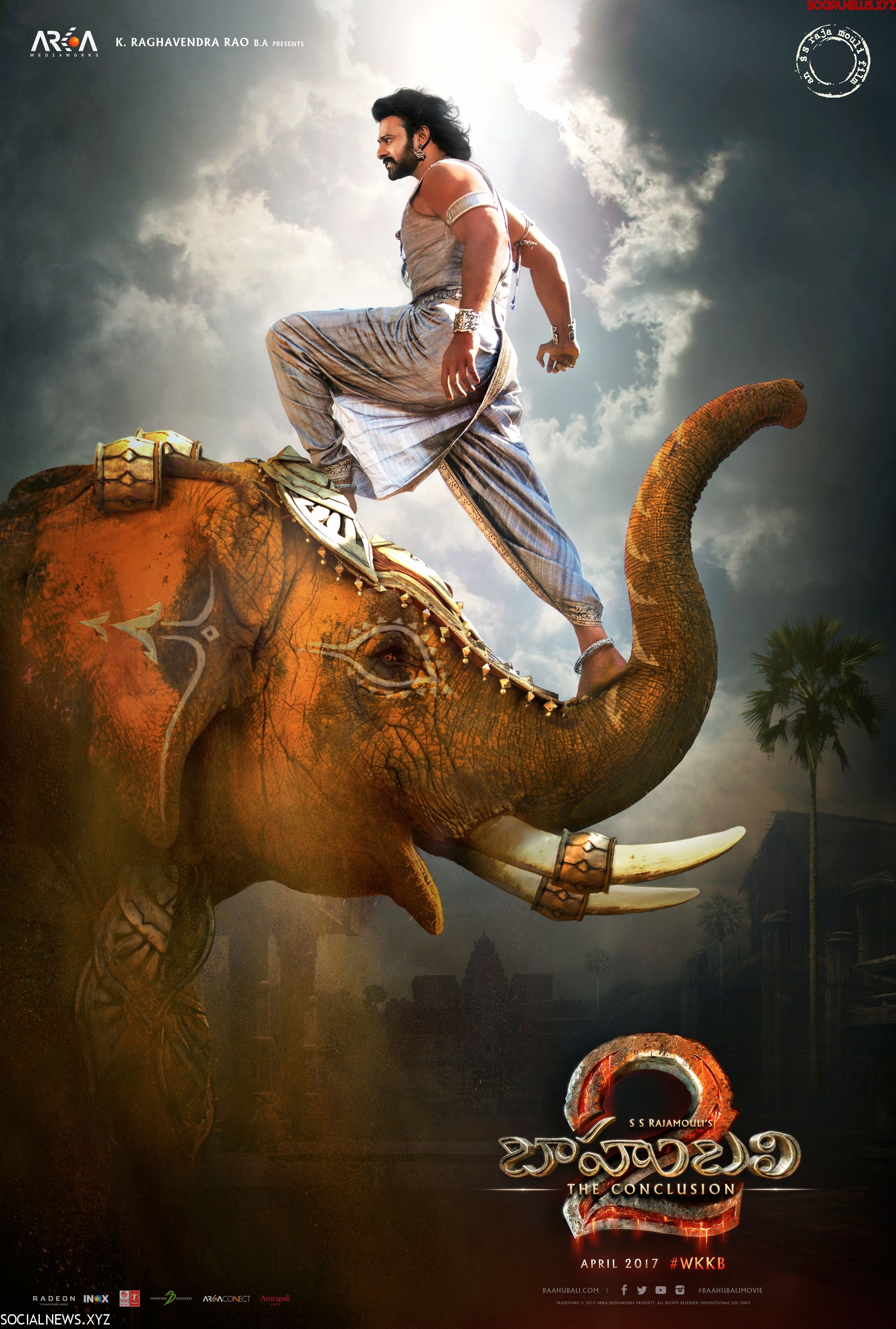 prabhas in bahubali the conclusion new poster - social news xyz