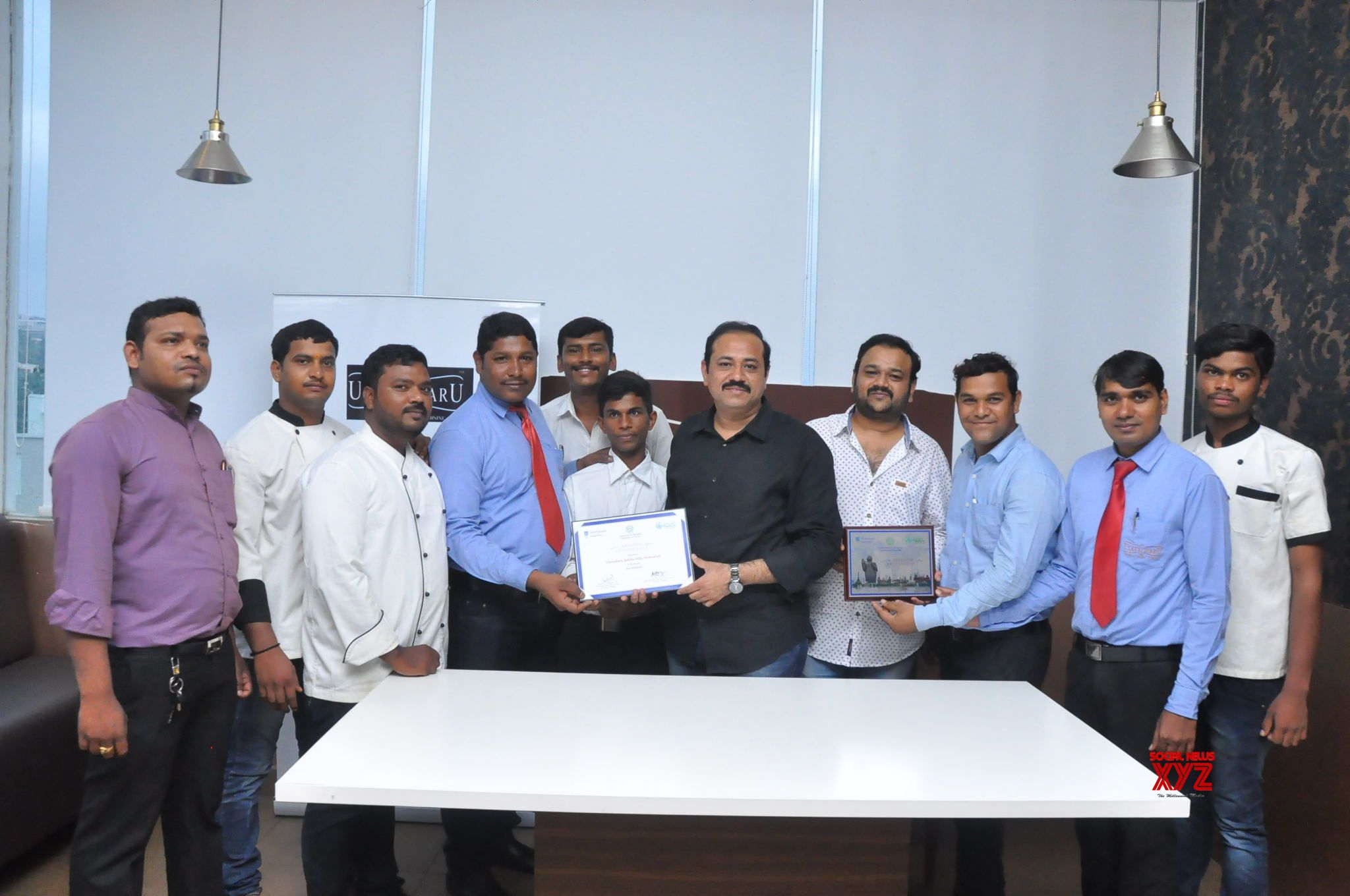 Telangana Government felicitated UlavacharU with 2017 Best Restaurant Award