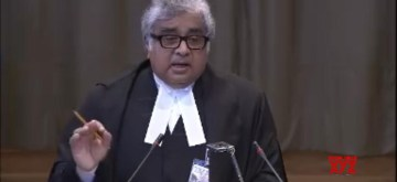 The Hague: A screengrab of Advocate Harish Salve as he speaks at the International Court of Justice during a public hearing in the case of Kulbhushan Jadhav, the alleged Indian spy sentenced to death by a Pakistani military court in The Hague, Netherlands on May 15, 2017. (Photo: IANS/UN)