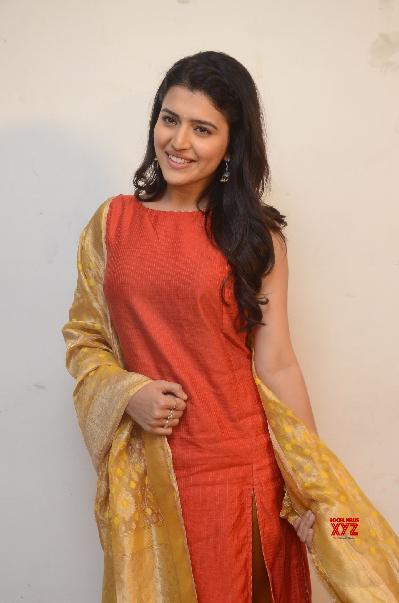 Actress Chithra Shukla Stills From Rangula Ratnam Movie Pre Release Event