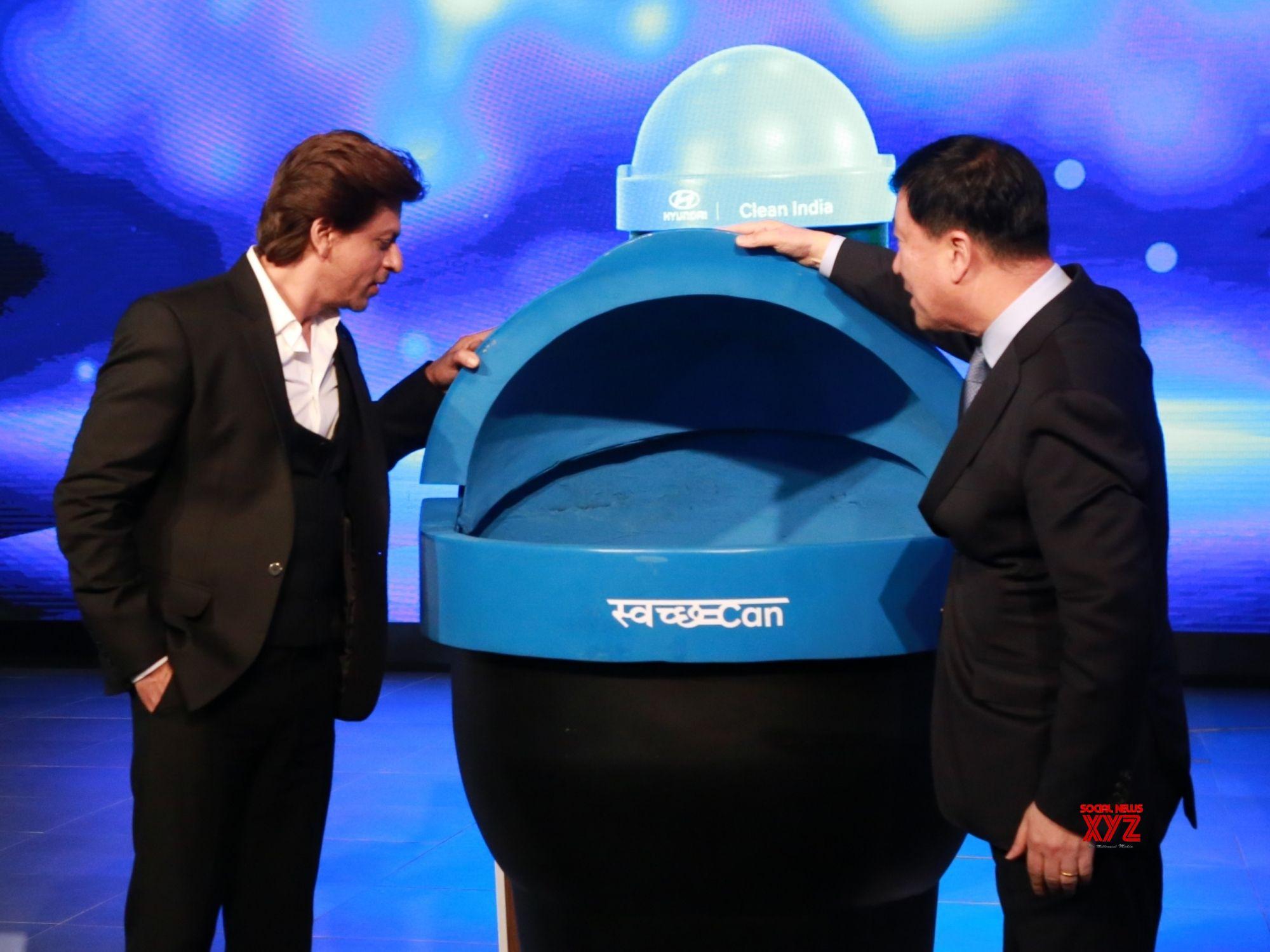 Image result for SRK unveils portable bin for cars