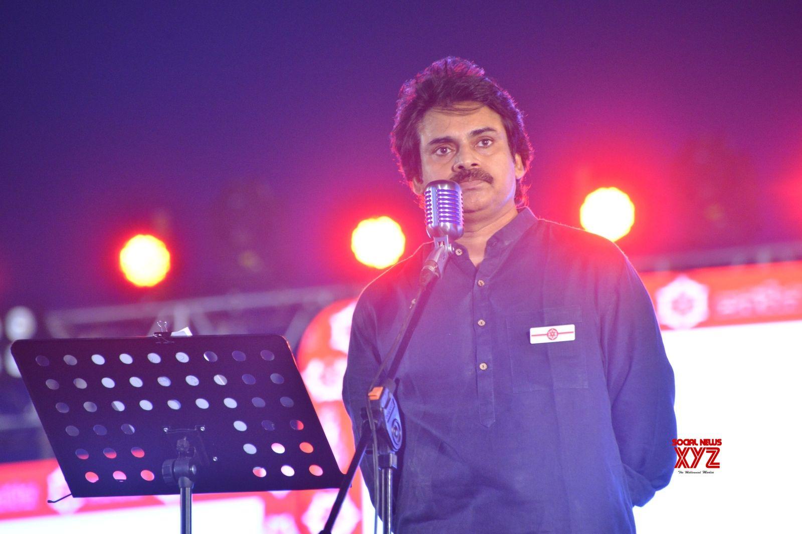 Hyderabad: Actor Pawan Kalyan during a programme in Hyderabad. (Photo: IANS)