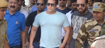 Jodhpur: Actor Salman Khan arrives at Jodhpur airport on May 6, 2018. He is scheduled to appear before a Jodhpur court in blackbuck poaching case on Monday. (Photo: IANS)