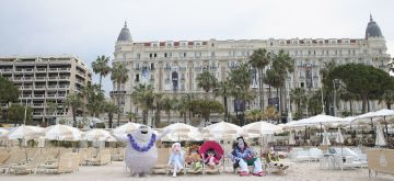 CANNES, FRANCE - MAY 07:  Monster characters pose for a colourful photocall to launch sneak peek of 'Hotel Transylvania 3' on May 7, 2018 in Cannes, France.  (Photo by Andreas Rentz/Getty Images for Sony Pictures Releasing International)
