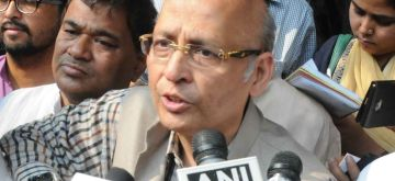 Kolkata: Trinamool Congress supported Congress Rajya Sabha candidate Abhishek Singhvi talk to the press at West Bengal Assembly in Kolkata on March 22, 2018. (Photo: IANS)
