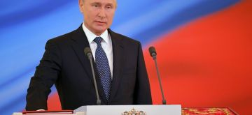 MOSCOW, May 7, 2018 (Xinhua) -- Russian President Vladimir Putin addresses his inauguration ceremony in Moscow, capital of Russia, on May 7, 2018. Vladimir Putin took the oath of office Monday to start his fourth term as Russian president. (Xinhua/Sputnik/IANS)