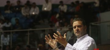 New Delhi: Congress President Rahul Gandhi addresses during an OBC (Other Backward Class) convention, in New Delhi on June 11, 2018. (Photo: IANS)