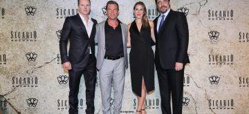 June 11, 2018 - Producer Trent Luckinbill, Josh Brolin, producer Molly Smith and Benicio Del Toro attend the 'Sicario: Day of the Soldado' Mexico City premiere at Antara Polanco in Mexico City, Mexico.