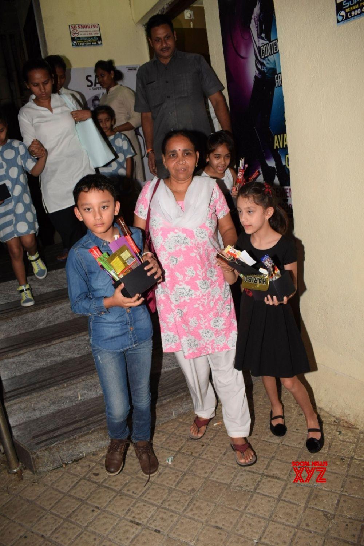 Mumbai: Shahraan Dutt and Iqra Dutt seen at a cinema theatre