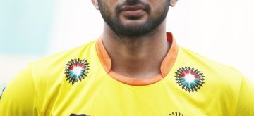 Manpreet Singh who was selected in the Indian Men Hockey Team for upcoming Hockey World Cup 2014 which is scheduled to begin on 31st May 2014 in The Hague, Netherlands. (Photo: IANS)