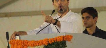 Serilingampally: Congress President Rahul Gandhi during a public rally in Serilingampally, Telangana on Aug 13, 2018. (Photo: IANS)