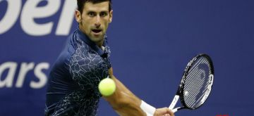 NEW YORK, Sept. 8, 2018 (Xinhua) -- Novak Djokovic of Serbia hits a return during the men's singles semifinal match against Kei Nishikori of Japan at the 2018 US Open tennis tournament in New York, the United States, Sept. 7, 2018. Novak Djokovic won 3-0. (Xinhua/Li Muzi/IANS)