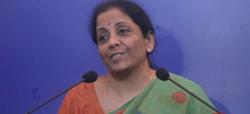 New Delhi: Defence Minister Nirmala Sitharaman addresses a press conference in New Delhi on Sept 18, 2018. (Photo: IANS)
