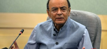 New Delhi: Union Finance and Corporate Affairs Minister Arun Jaitley addresses a press conference, in New Delhi on Oct 4, 2018. (Photo: IANS)
