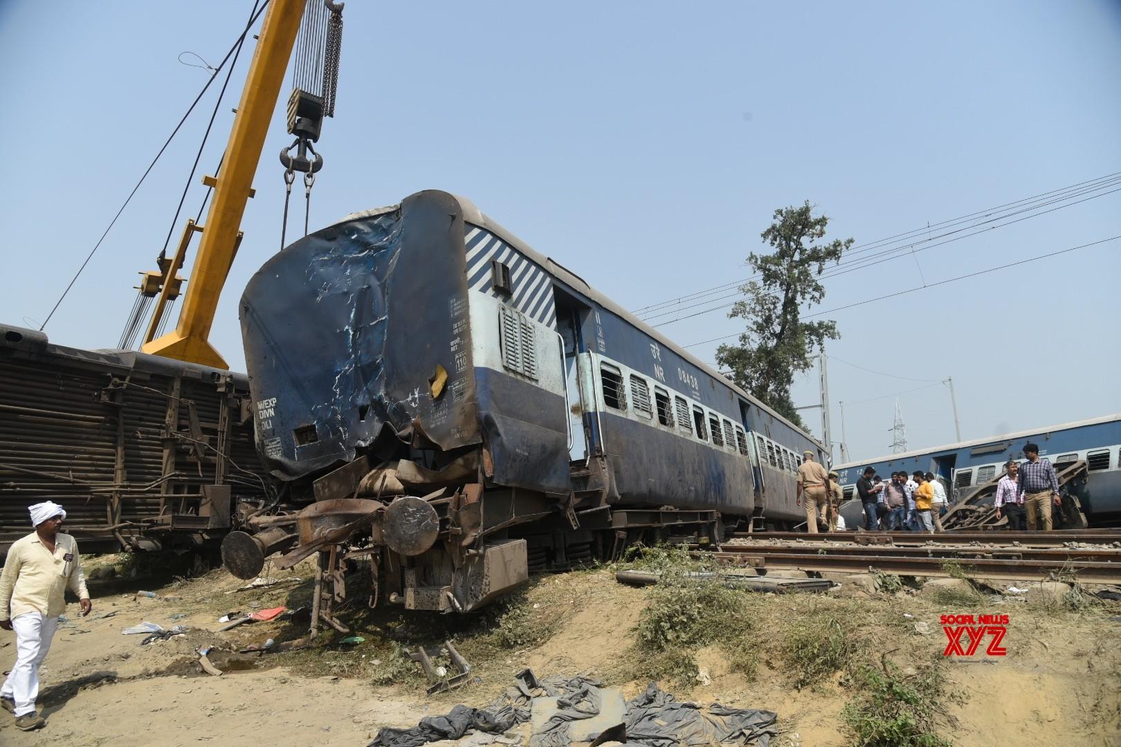 Railway suspends 2 officials over UP derailment