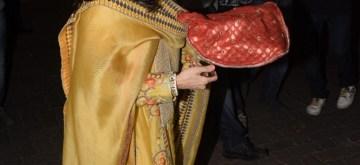 Mumbai: Actor Anil Kapoor's wife Sunita Kapoor hosts Karwa Chauth Puja at her residence in Mumbai on Oct 27, 2018. (Photo: IANS)