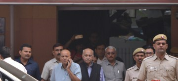 New Delhi: Former Minister M.J. Akbar at a Delhi Court on Oct 31, 2018. The court recorded Akbar's statement as a complainant witness in a criminal defamation suit filed by him against journalist Priya Ramani. Akbar told Additional Chief Metropolitan Magistrate Samar Vishal that the allegations levelled against him by Ramani were false and defamatory and in the process his reputation has been tarnished. (Photo: IANS)