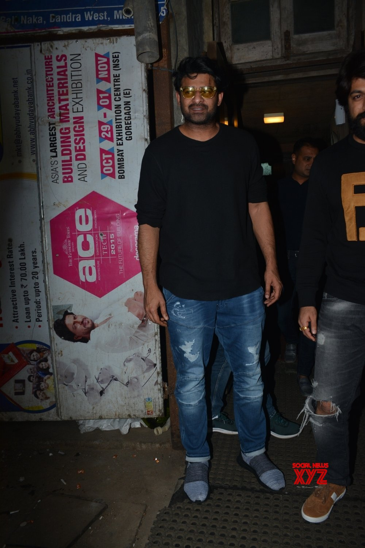 Mumbai: Prabhas, Yash and Anil Thadani seen at Mumbai's Bandra #Gallery