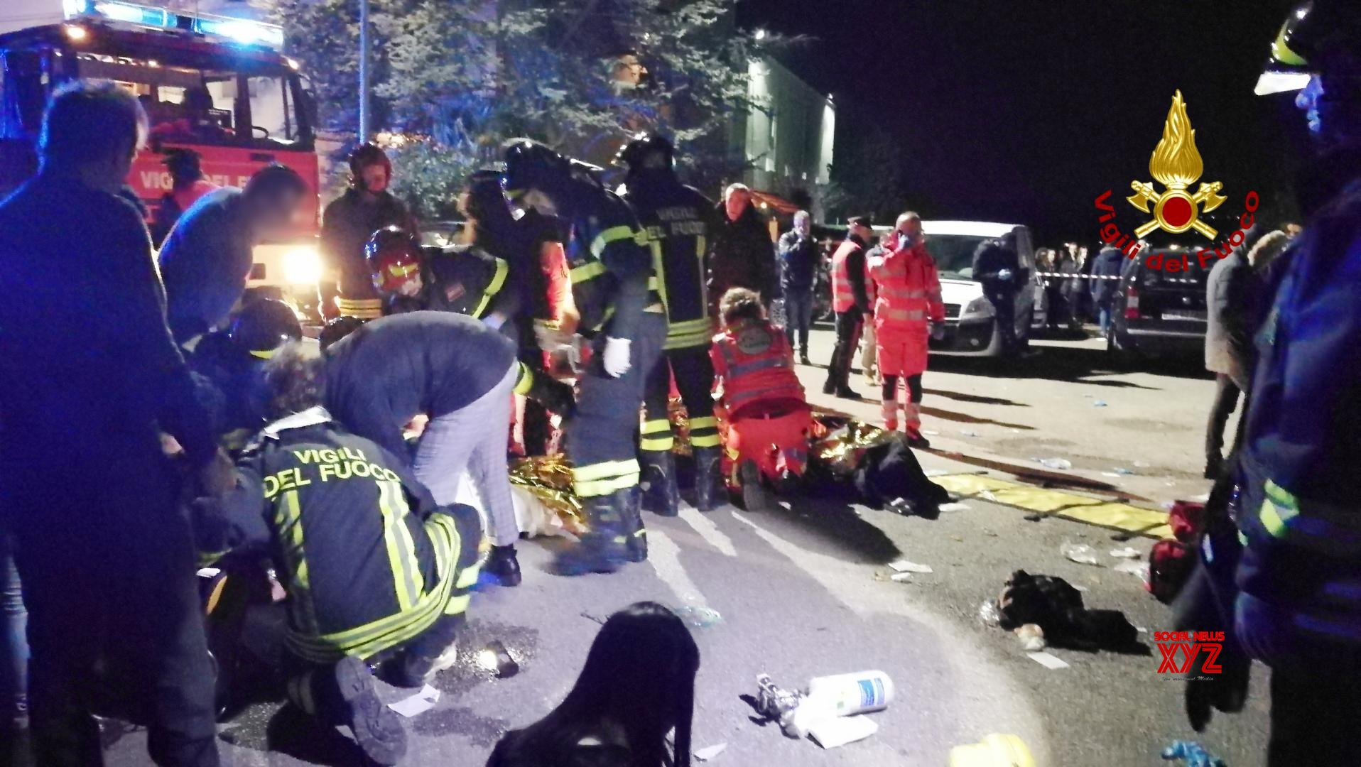 6 killed in Italy nightclub stampede