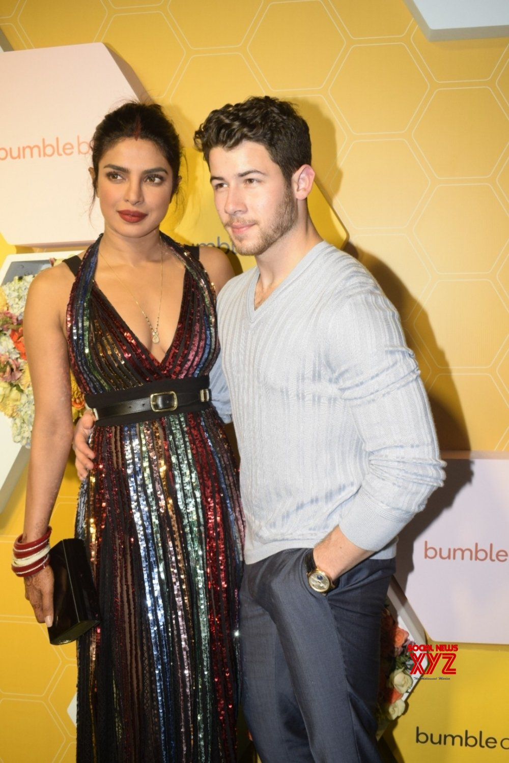 Mumbai: - Priyanka Chopra and Nick Jonas during a launch party #Gallery