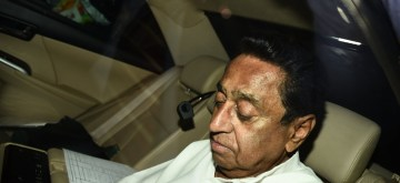 New Delhi: Congress leader Kamal Nath arrives at Rahul Gandhi's residence in New Delhi on Dec 13, 2018. (Photo: IANS)