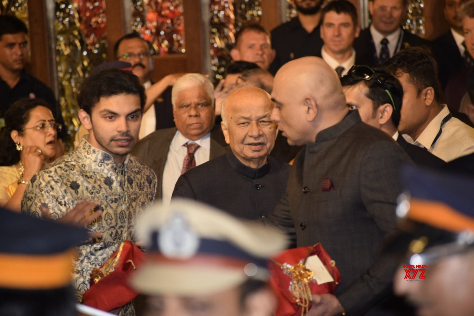 Mumbai: Sushilkumar Shinde at Isha Ambani & Anand Piramal's wedding #Gallery